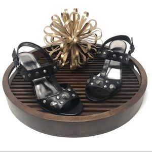 """Alfani """"Ellis"""" Black Studded Sandal"""